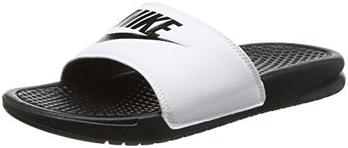 Nike Benassi Jdi, Ciabatte Uomo, Bianco (white/black Black), 45 EU