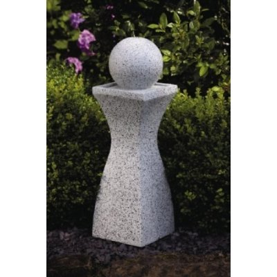 Gartenbrunnen , Deko Brunnen mit Beleuchtung 6 LEDs