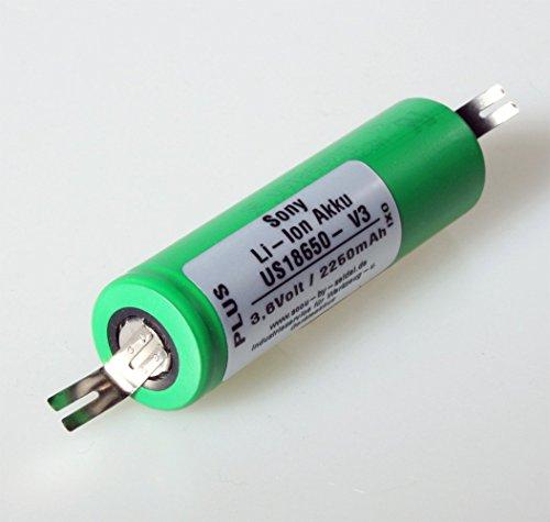 accu-by-seidel 18650 Batteria di ricambio (IXO), agli ioni di litio, per avvitatrice Bosch IXO