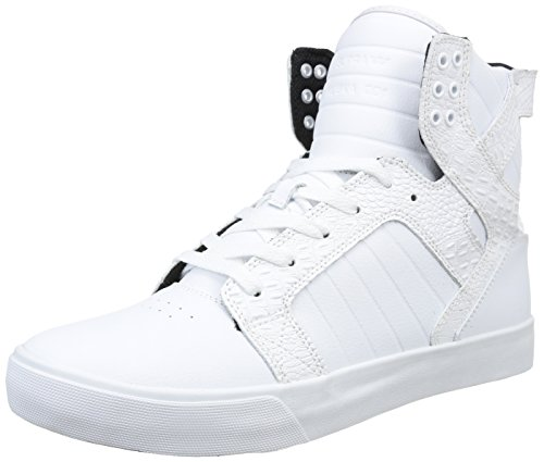 Supra SKYTOP, Sneaker alta uomo, Bianco (Weiß (WHITE / CROC - WHITE     WCR)), 42