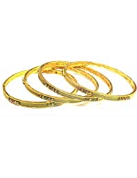 Shingar Jewellery Ksvk Jewels Antique Gold Plated Bangles Set For Women (9280-m-c-p)