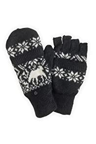 Tabask Deer and Me Alpaca Glittens (Black/Cream)
