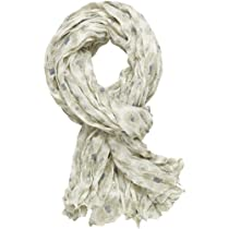 Life is good. Womens Crinkle Scarf - Floral (Simply Ivory)