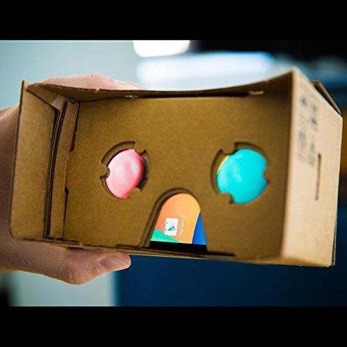 Virtual Reality Cardboard 3D Glasses DIY Tool Kit with NFC and Easy Setup