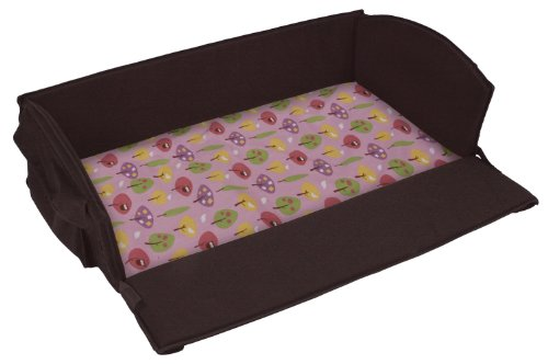 Leachco Roam 'N Holiday Anywhere Bed Replacement Sheet, Pink Forest Frolics