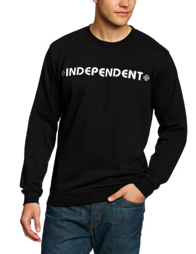 Independent Bar Cross Crew Men's Jumper Black X-Large