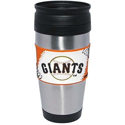 mlb-san-francisco-giants-stainless-steel-travel-tumbler-with-pvc-wrap-15-ounce-team-color-by-hunter-