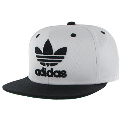 adidas Men's Originals Snapback Flat Brim Cap, White/Black, One Size (Cool Snapbacks compare prices)
