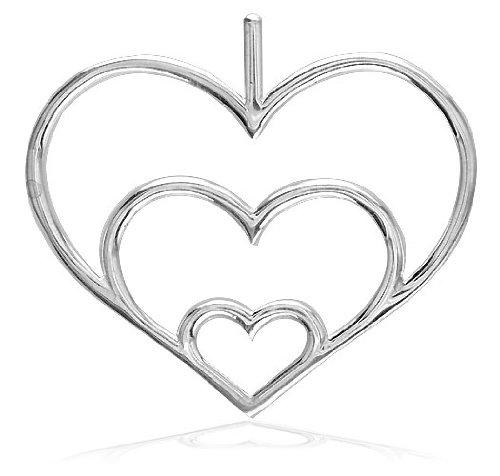 Large Triple Heart Pendant In 14K Rose (Pink) Gold