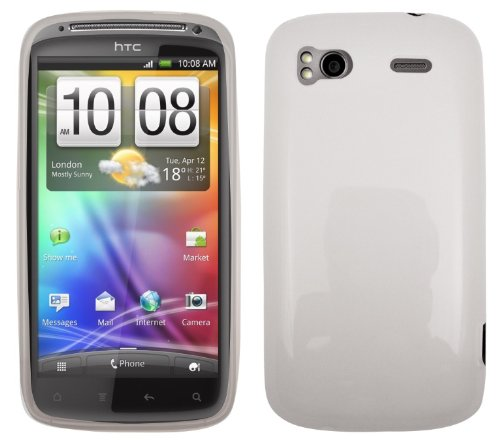 FoneM8 – HTC Sensation Ice White Pro Gel Skin Case Cover With Free Screen protector