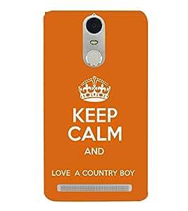 EPICCASE Keep calm case Mobile Back Case Cover For Lenovo K5 Note (Designer Case)