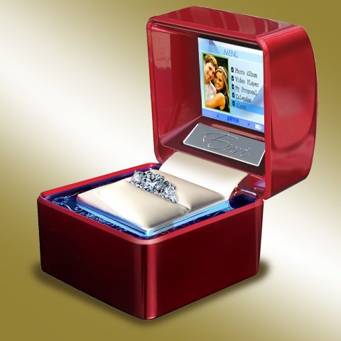 Euricase Ring Box Jewelry Keepsake With Lcd For Videos Audios Pictures