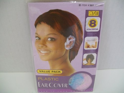 8 Plastic Ear Cover Pieces