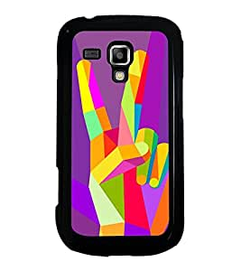 Printvisa Ultra Colourful Victory Sign 2D Hard Polycarbonate Designer Back Case Cover for Sam...