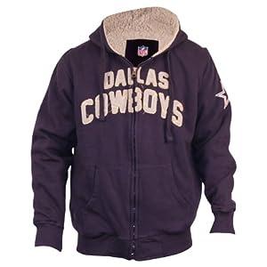 Dallas Cowboys Full Zip Sherpa Fleece Lined Hoodie by NFL