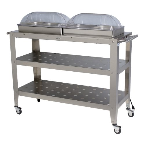 Broilking Wbc-5Rt Grand Size Buffet Cart With Roll-Top Lid