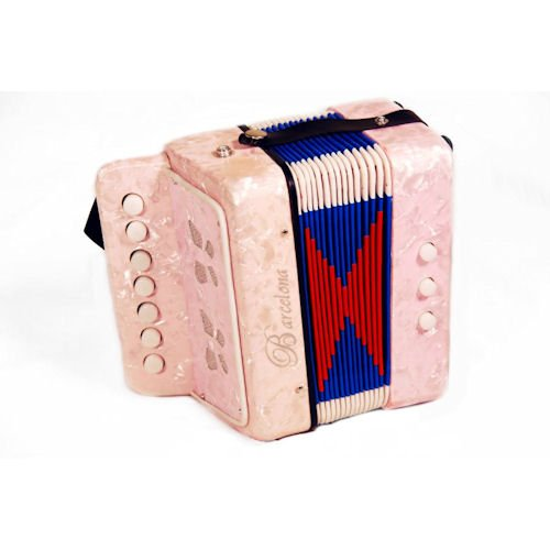 Barcelona Children's Toy Accordion - Pink