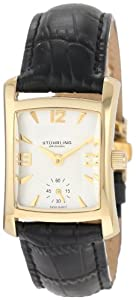 Stuhrling Original Women's 145L.12352 Classic Gatsby Swiss Quartz Gold Tone Leather Watch
