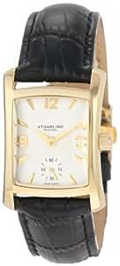 Stuhrling Original Women's 145L.12352 Classic Gatsby Swiss Quartz Gold Tone Leather Watch