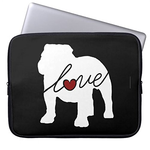 Christmas Gifts for Mom 11.6-12 Inch Laptop Sleeve Cute English Bulldog Love Notebook Computer Case for Apple MacBook Acer Samsung Ultrabook Asus Fujitsu Lenovo HP Sony Toshiba Powerbook (Bulldog Laptop Case compare prices)