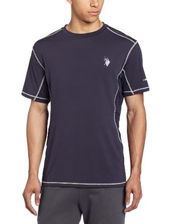 U.S. Polo Assn. Men's Mesh Panel Base Layer T-Shirt, Classic Navy, Medium