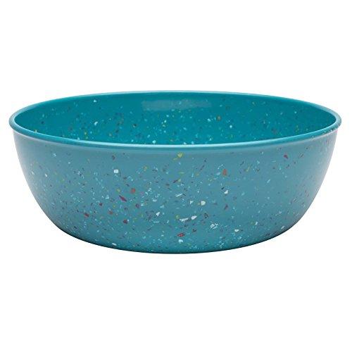 Zak Designs Confetti Shallow Serve Bowl, 10-Inch, Azure