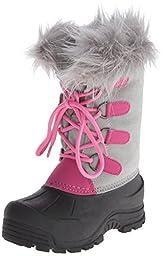 Northside Snow Drop II Winter Boot (Little Kid/Big Kid),Gray/Pink,12 M US Little Kid