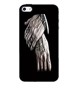 PrintDhaba Hands D-2193 Back Case Cover for APPLE IPHONE 5 (Multi-Coloured)