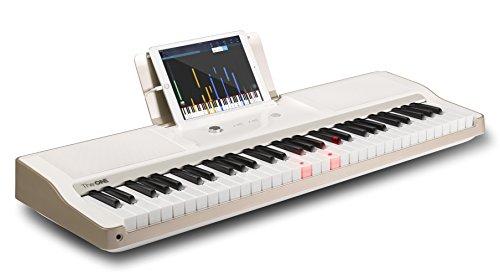 the-one-smart-piano-61-key-portable-light-keyboard-usb-midi-electronic-keyboard-piano-white-gold
