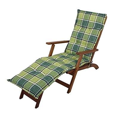 Deckchair Auflage Polsterauflage Comfort in Grün kariert von Trend Design - Gartenmöbel von Du und Dein Garten