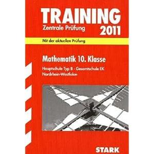 eBook Cover für  Mathematik 10 Klasse 2011 Zentrale Pr xFC fung Hauptschule Typ B Gesamtschule EK Mit der aktuellen Pr xFC fung Training Abschlusspr xFC fung Hauptschule Mit den Original Pr xFC fungsfragen 2010