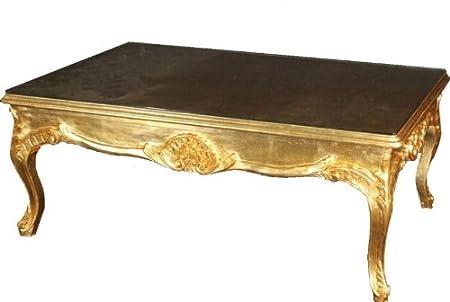 Barock Couchtisch Gold 120 x 80 cm