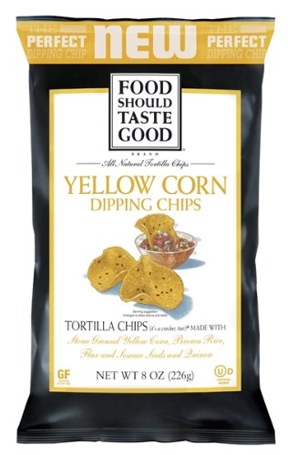 Food Should Taste Good Tortilla Dipping Chips, Yellow Corn, 8 Ounce