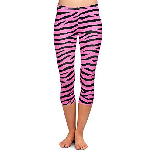 Zebra Print Bright Pink Capri Leggings - S XS-3XL