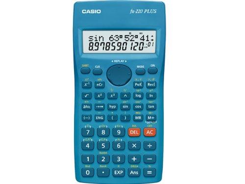 CASIO PLUS Calcolatrice Elettronica Scientifica, Colore Azzurro
