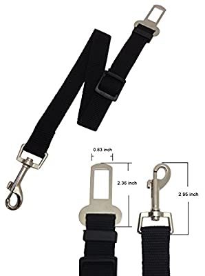 Dog Safety Seat Belt-adjustable and Durable- Nylon Strap- Keep Your Dog Safe While Traveling in Your Car. Includes as Bonus an USA Pet Shirt.