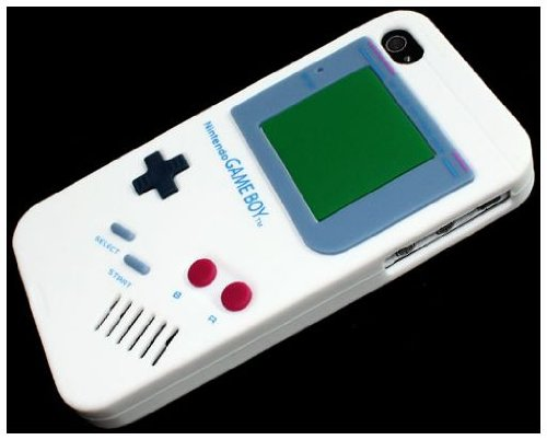 Nintendo Game Boy Gameboy Silicone Case For iPhone 4 4G white