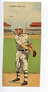 Buy 1911 T201 Mecca Double Folder Tobacco Chief Bender Oldring Phil A's by Hollywood Collectibles