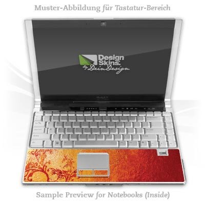 Design Skins für HP EliteBook 2530p Tastatur (Inlay) - Süden Design Folie