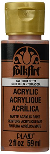 FolkArt Acrylic Paint in Assorted Colors (2 Ounce), 433 Terra Cotta