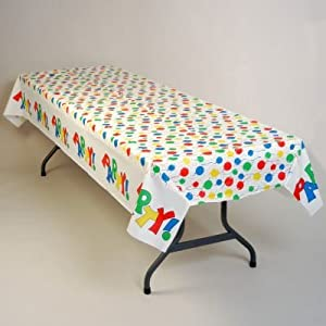 Plastic Table Cloth : ... Balloons Banquet Plastic Tablecloth 100-ft Roll: Home & Kitchen