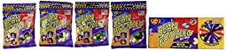 Jelly Belly 3.5 oz BeanBoozled Spinner Wheel Game Jelly Bean Gift Box 3rd Edition with 4 - 1.9 oz BeanBoozled Jelly Bean Refills (Party Pack)