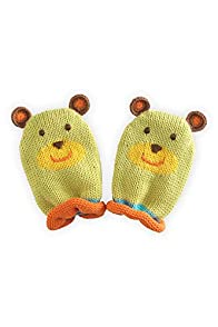 Joobles Organic Fair Trade Baby Mittens - Huggy Bear (0-6 Months)