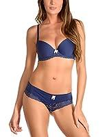JUST FOR VICTORIA Conjunto Ropa Interior Giovanna (Azul)