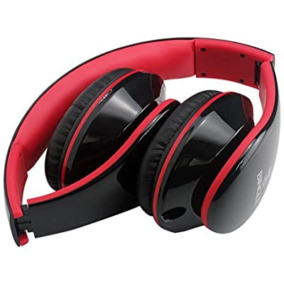 Voistek Bingle i680 Foldable Hifi Stereo Headphone with Detachable Mic Cable Street Style Fashion & Music Share for Tablet iPhone Samsung Smartphones & Audio Device with 3.5mm Headset Jack (Red)