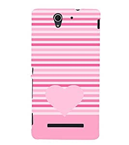 Love Heart Design 3D Hard Polycarbonate Designer Back Case Cover for Sony Xperia C3 Dual D2502 :: Sony Xperia C3 D2533