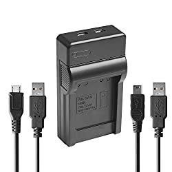 Happyjoy NB-6L NB-6LH Micro and Mini USB Battery Charger for Canon PowerShot SX240 HS SX260 HS SX270 HS SX280 HS SX510 HS SX530 HS SX600 HS SX710 HS