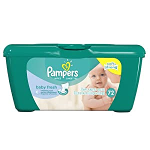 Pampers Baby Fresh Wipes Tub 72 Count  (Pack of 8)