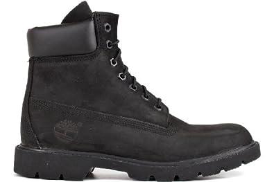 Timberland Mens 6-inch Basic Waterproof Black Nubuck Boot - 7 M