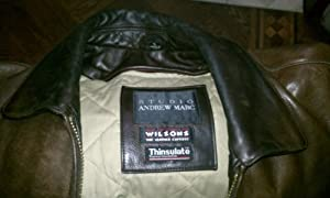 Andrew Marc Leather Jacket, color brown, size small